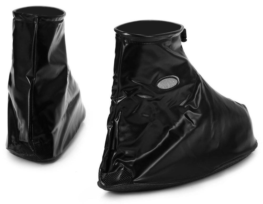 PVC Reusable Water Resistant Slip-resistant Thickening Rain Boot Shoes Cover with Zippered