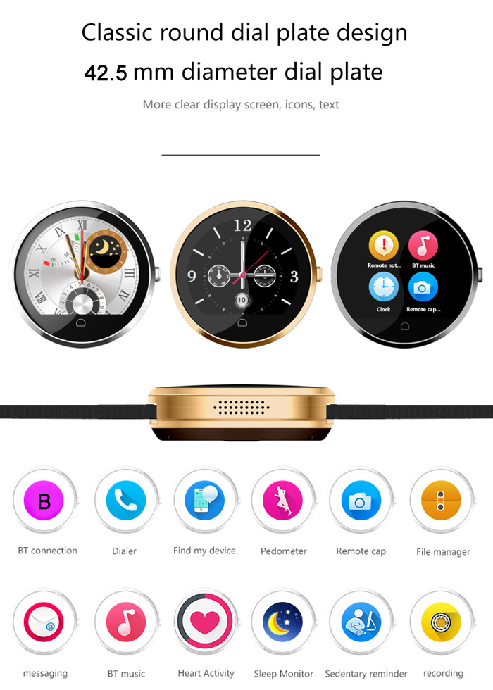 Haier G6 Bluetooth 4.0 Smart Watch with Heart Rate Monitor Function