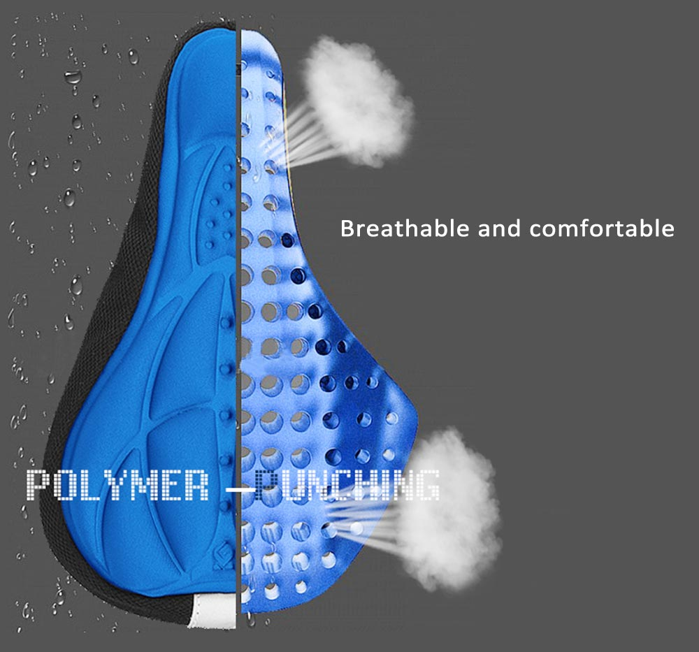 3D Silicone Soft Saddle Seat Cover for Cycling