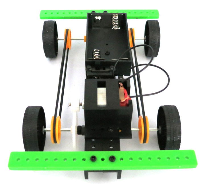 DIY 4WD Car No.2 Battery Operated Assemble Educational Toy