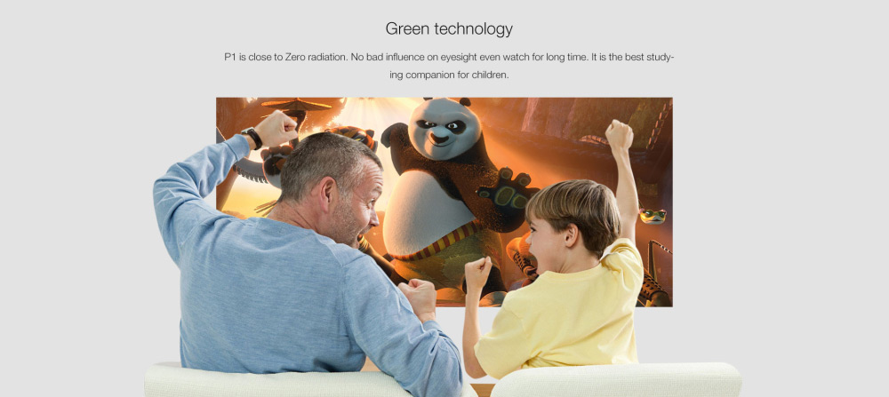 DOOGEE P1 DLP Projector Android 4.4 854 x 480 Pixels 2.4G WiFi Airplay HD Media Player