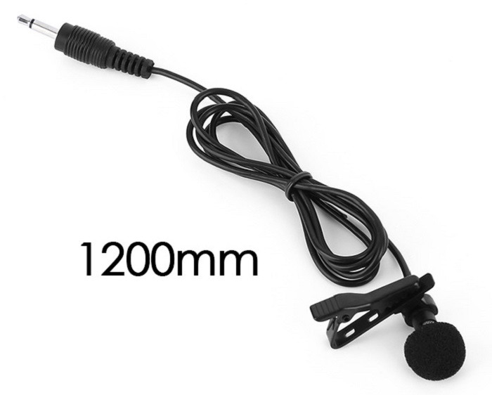 1.2m / 47 inch Handheld External Condenser Microphone with Clip for DJI Osmo Gimbal Camera
