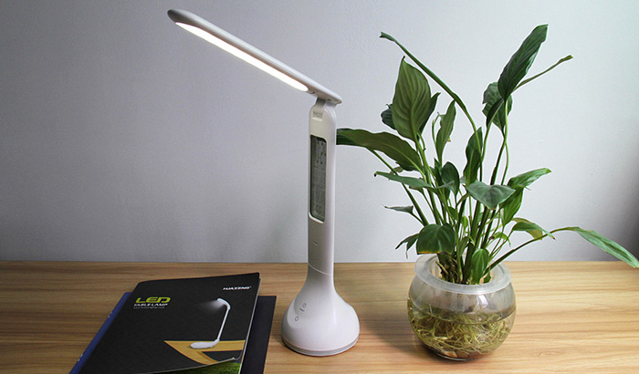 Touch Control Dimmable LED Table Lamp Versatile Digital Screen