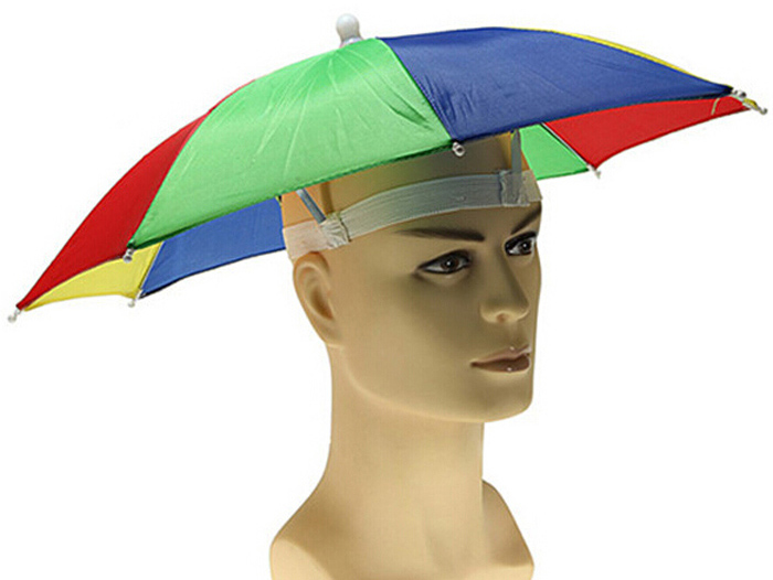 Foldable UV Protection Umbrella Hat Cap for Hiking Golf Camping Fishing Headwear Sunshade