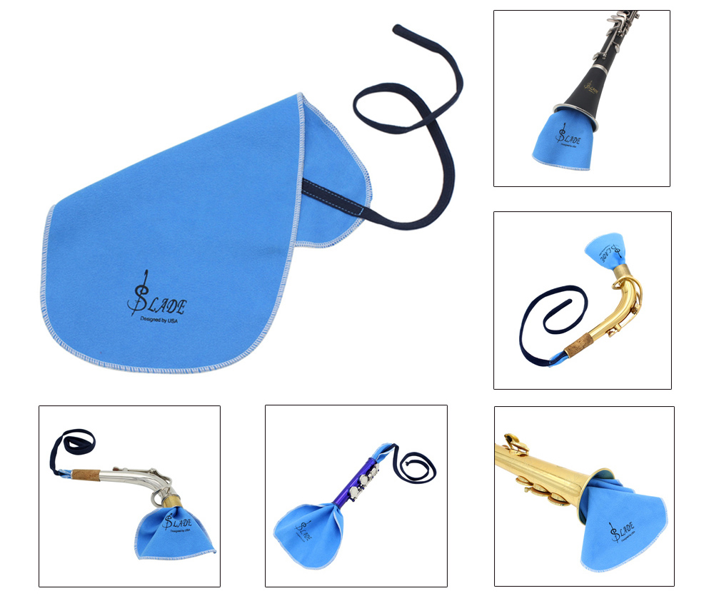 LADE Clarinet Flute Sax Saxophone Cleaning Cloth for Inside Tube