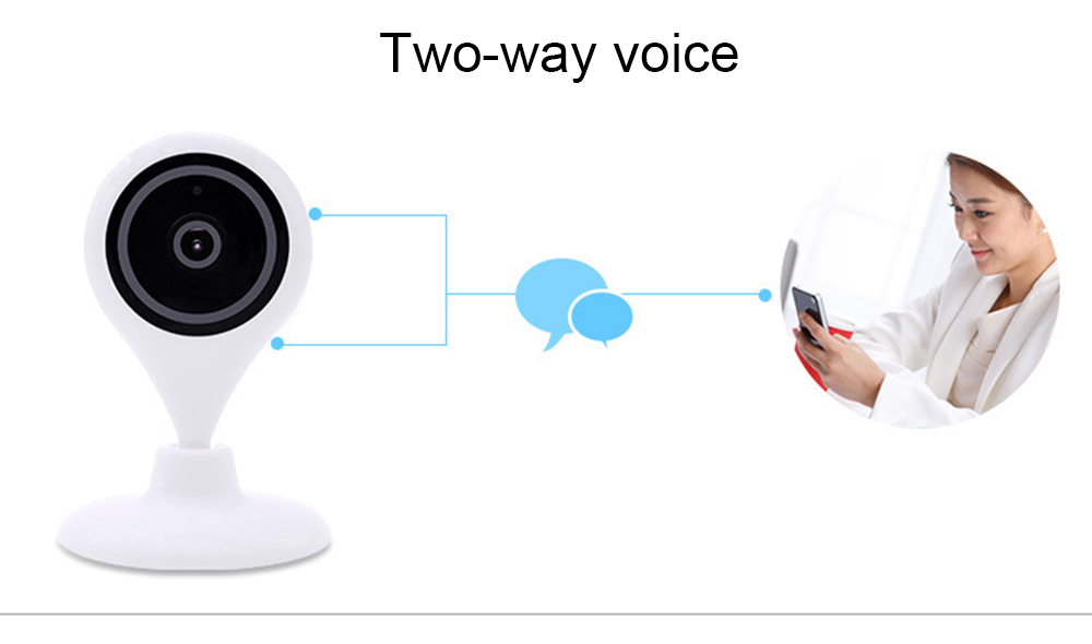 Hiseeu HSY-FH7 Indoor WiFi IP Camera TF Card Storage Night Vision Motion Detection