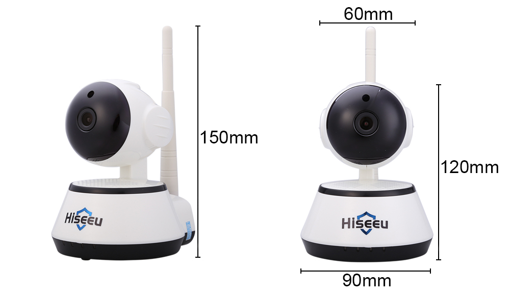 Hiseeu HSY-FH2 Indoor 720P Wireless IP Cam IR-Cut Night Vision Mini Rotatable Smart Security
