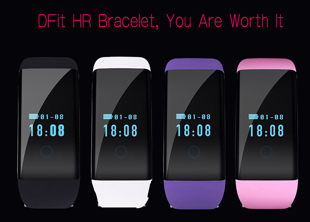 D21 Smart Bracelet Watch Bluetooth 4.0 SMS Reminder Sleep Tracker Calorie Burning Incoming Call Show for Sports
