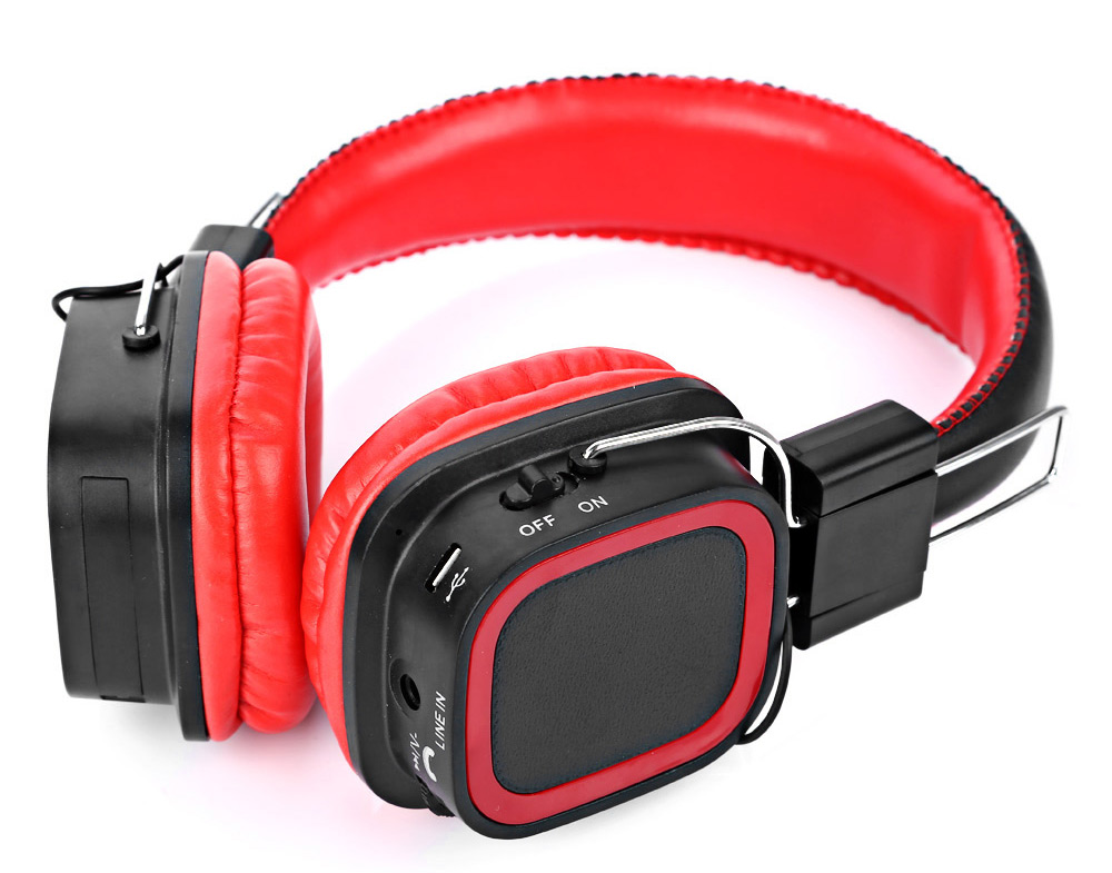 AT-BT814 Bluetooth V2.1 Stereo Headphones with Mic Song Switch Volume Control TF Card Slot