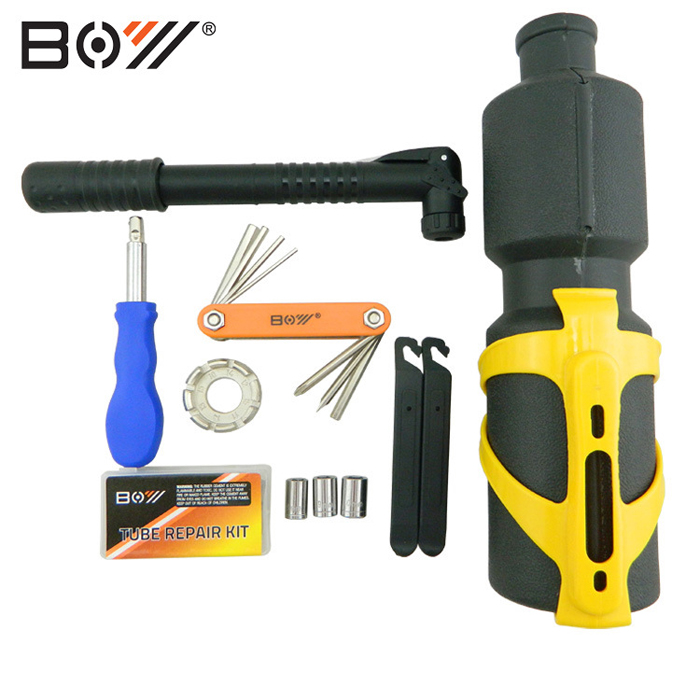 BOY 8010U Kettle Bicycle Repairing Kit Combination with Multitools