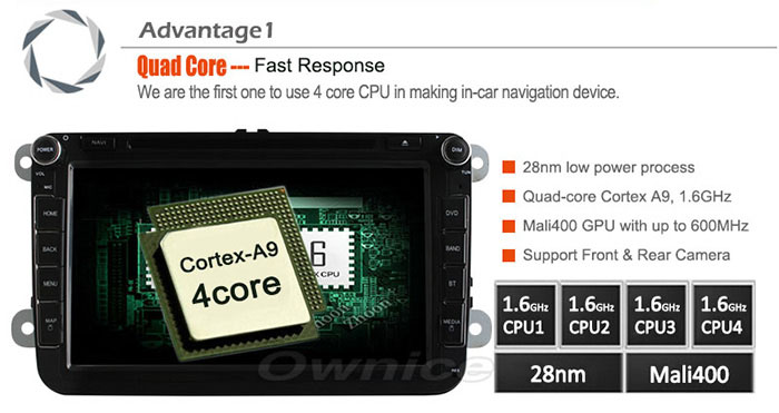 Ownice C180-OL-7991A 2 Din In-Dash 7.0 inch Car GPS DVD Multi-Media Player Android 4.4.2 RK3188 Cortex A9 Quad Core 1GB RAM 8GB ROM Bluetooth WiFi FM AM Touch Screen for Volkswagen