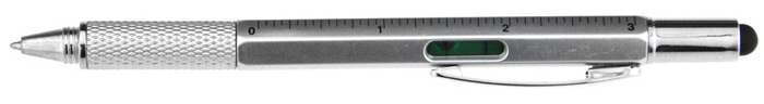 6 in 1 Metal Multi-functional Pen Ruler Spirit Level Handy Screwdriver
