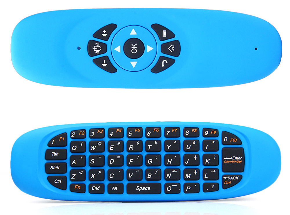 C120 2.4GHz Wireless Tastiera QWERTY + Air Mouse + Telecomando per Windows / Mac OS / Linux / Android