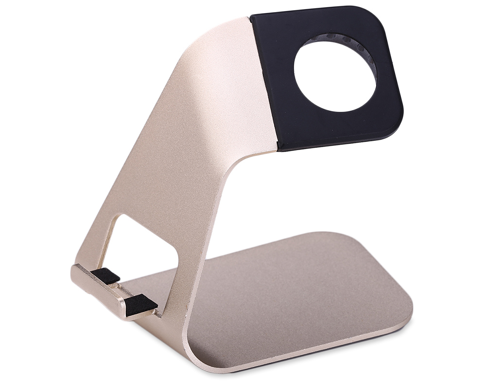Creative 2 in 1 Aluminum Phone Stand Charging Holder for iWatch Mobile Phones