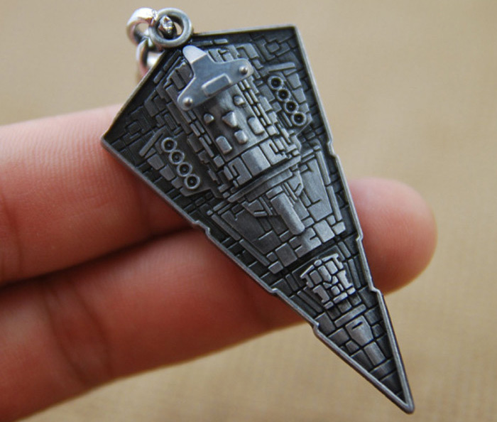 Imperial Star Destroyer Model Key Chain Hanging Pendant Movie Product Key Bag Decoration
