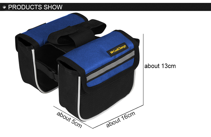 CoolChange Bicycle Front Tube Bag Polyester Made