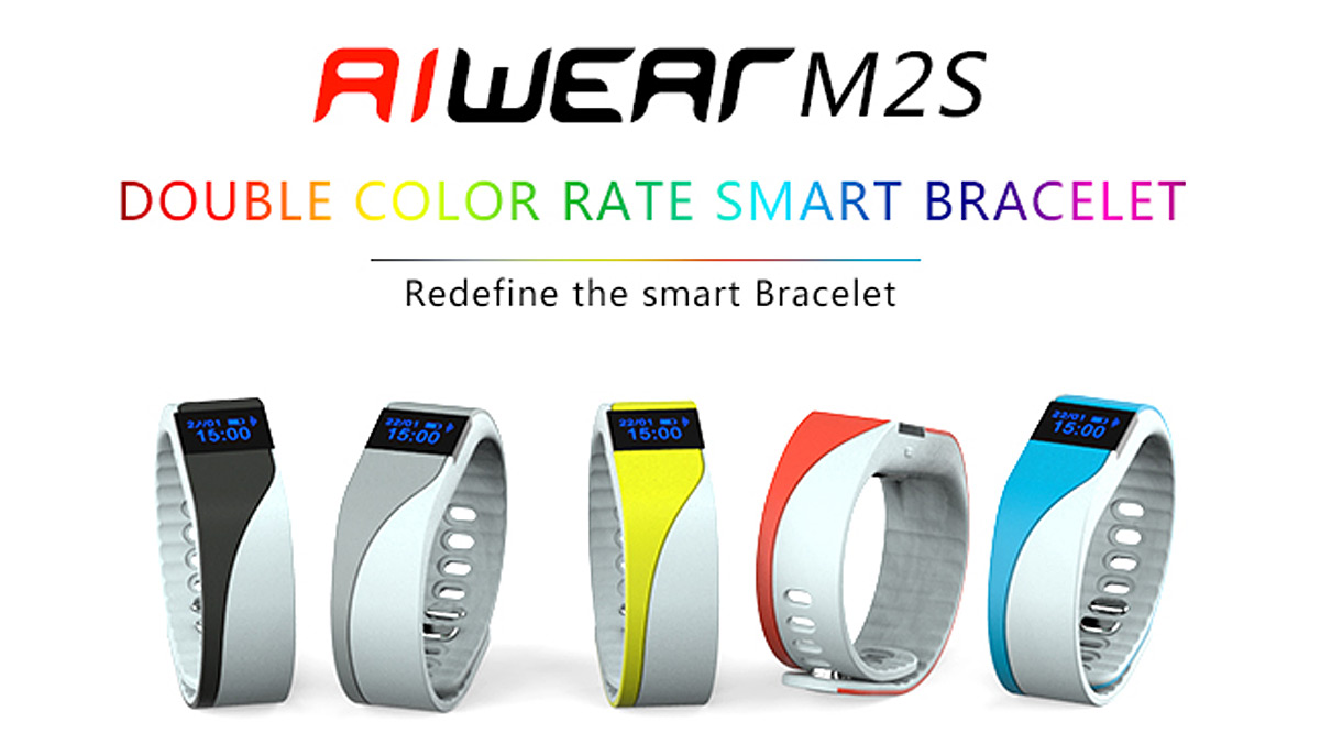 Aiwear M2S Smart Watch with Heart Rate Monitor Remote Camera Pedometer Function