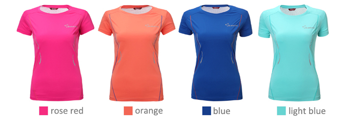 TOREAD Female Fitness Running T-shirt TiEF DRY Polyester Fabric