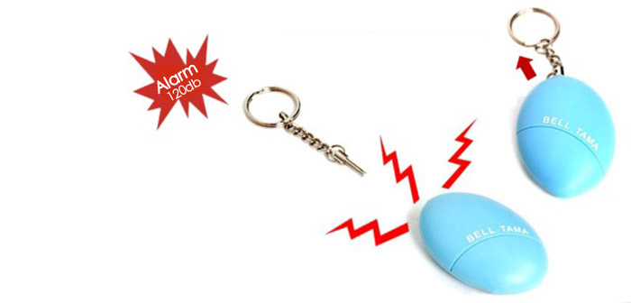 Guard Safety Security Alarm Keychain Self Defense Oval Shape