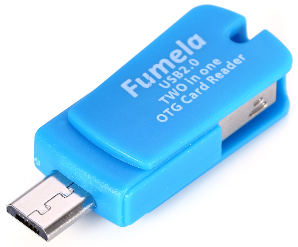 2 in 1 TF Card Reader with OTG Function