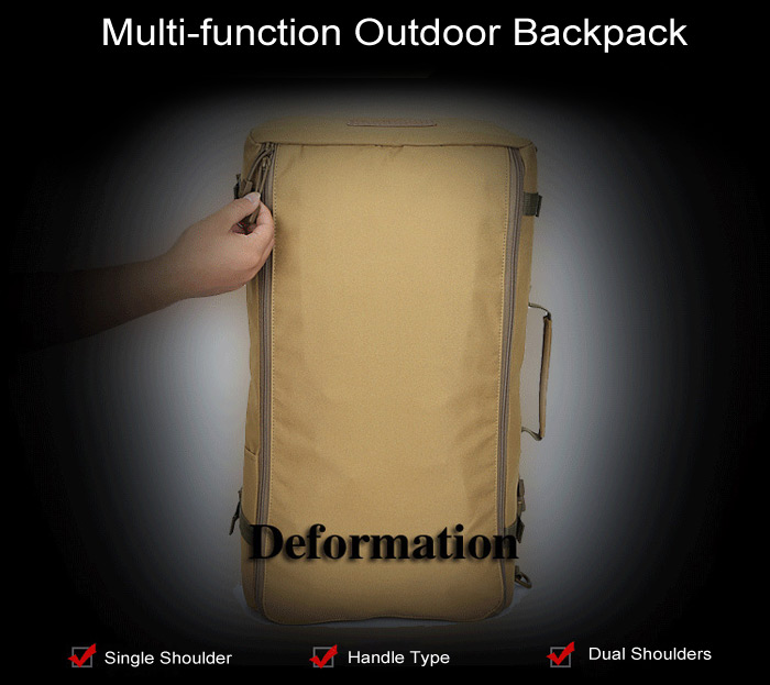 LOCAL LION 50L Multifunctional Water Resistant Trekking Backpack for Outdoor Camping Hiking
