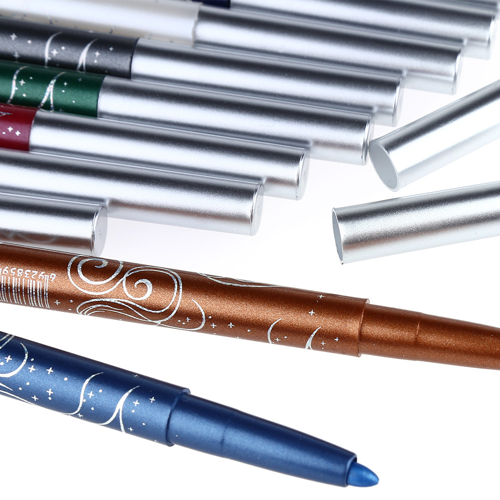 12 Colors Auto-Rotate Professional Eye Shadow Lip Liner Eyeliner Pen Makeup Kit
