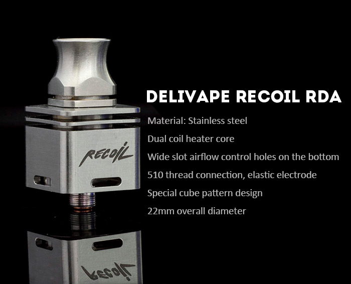 Delivape Recoil RDA Rebuildable Dripping Atomizer with Wide Slot Holes