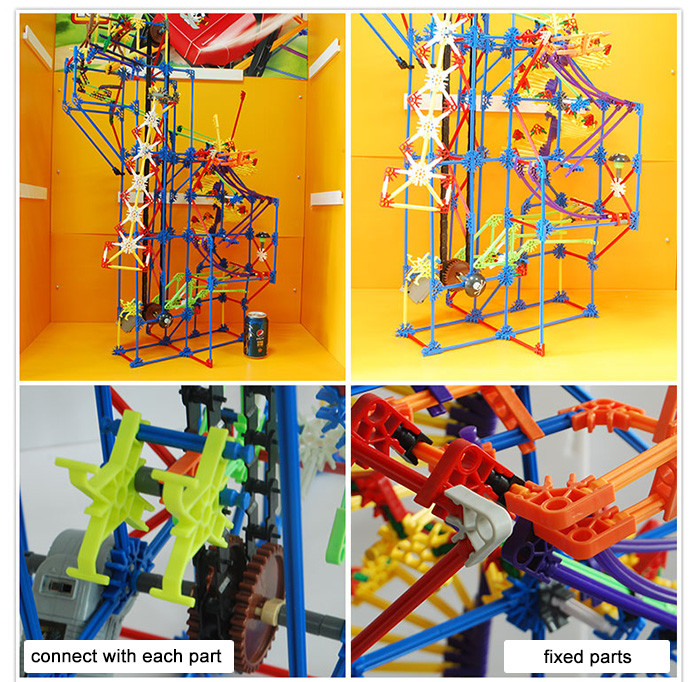 LOZ 2014 Amusement Park Building Joint Block with Motor Assemble Toy Educational Kid Game