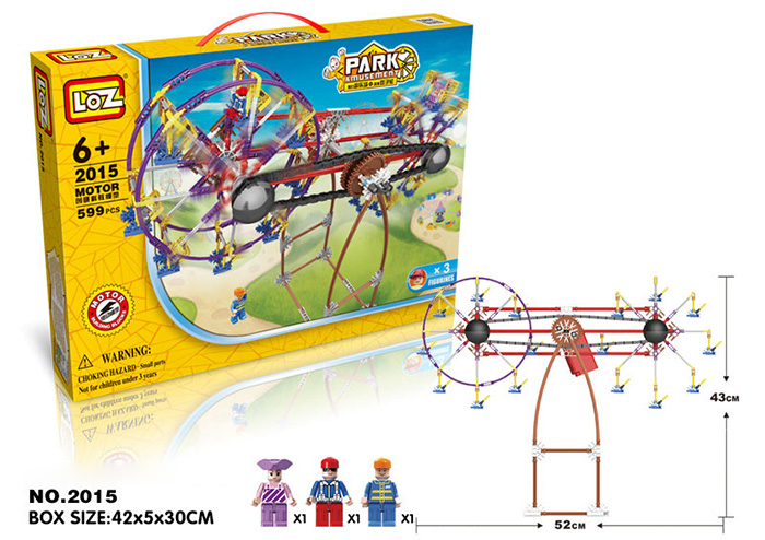 LOZ 2015 Amusement Park Building Joint Block with Motor Assemble Toy Educational Kid Game