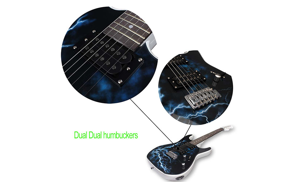 IRIN 6 String Electric Guitar Basswood Lightning Pattern Professional Instrument