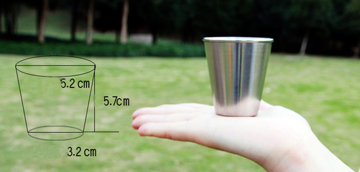 4PCS Stainless Steel Cup Camping Travel Mug Coffee Beer Drinking Tool