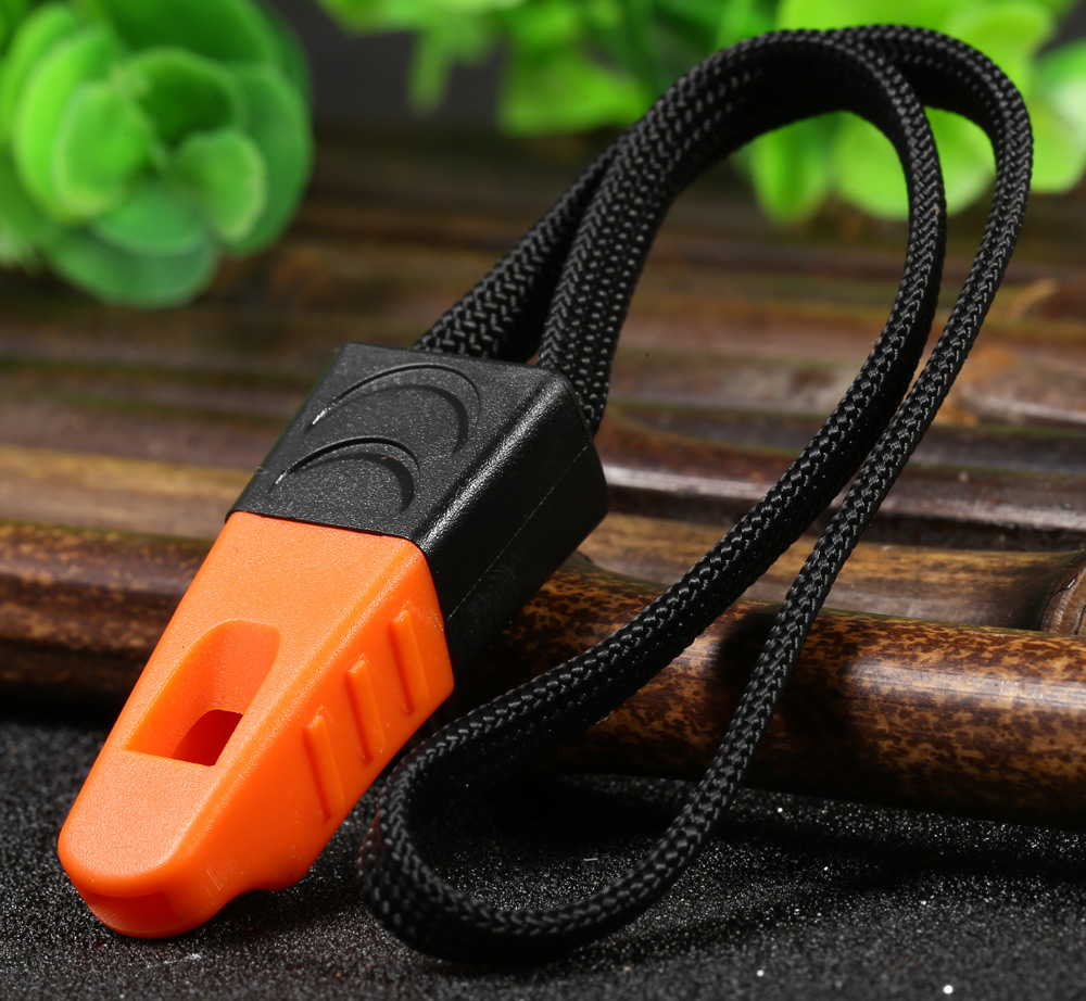 Ganzo Plastic Whistle with Lanyard for Outdoor Survival