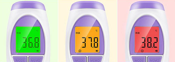 hetaida HTD8819C Infrared Thermometer Forehead Non-contact IR Body Temperature Measuring Tool with USB Charging Function
