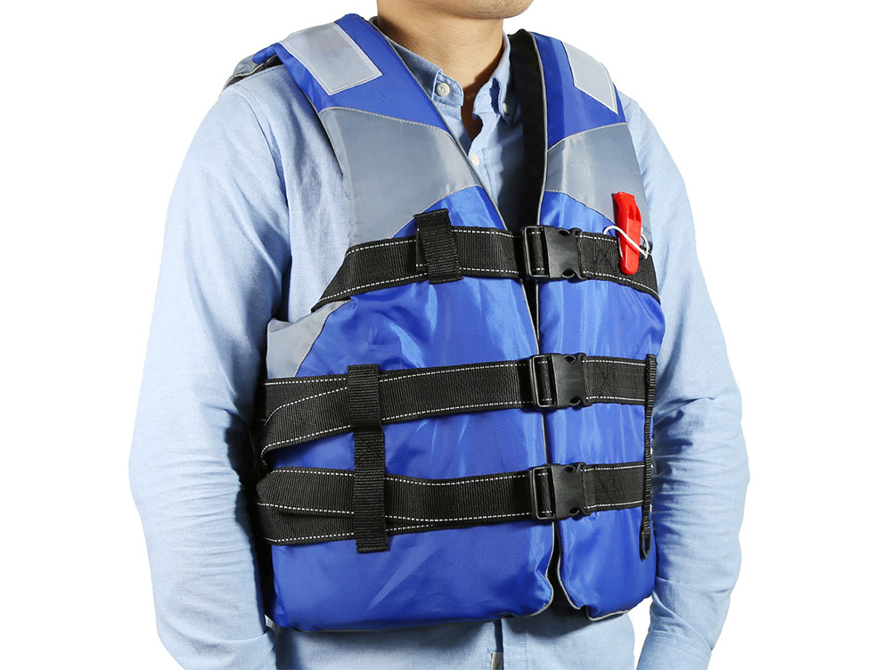 Adult Life Jacket Vest High Floating Foam with Whistle