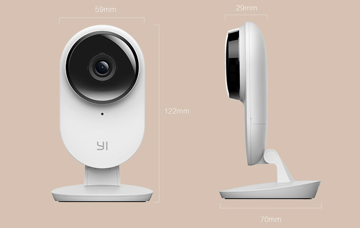 Xiaomi Xiaoyi Smart IP Camera Two 1080P 130 Degrees FOV Two Way Communication Human Body Detection Official USA Edition
