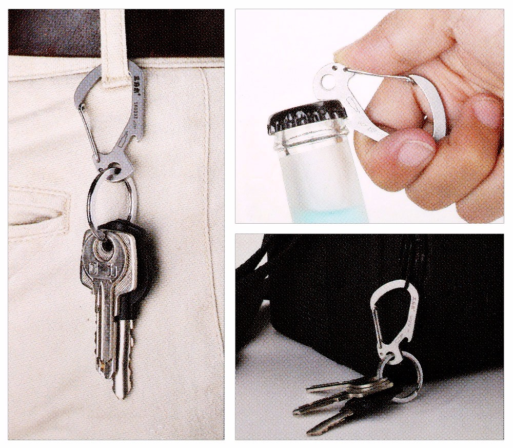 Sanrenmu SK033Z Multi-function Carabiner Key Chain with Bottle Opener for Outdoor Survival