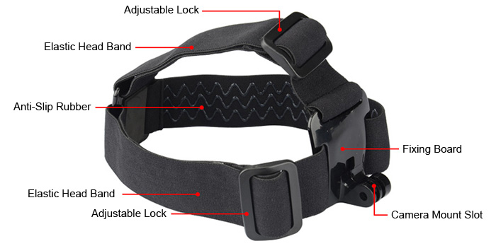 CP-GP23A Head Band Strap Belt Hands-Free Recording Accessory for Action Camera