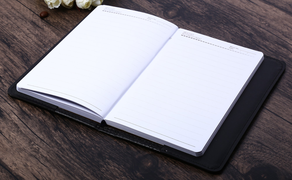 Classical PU Leather Business Notebook