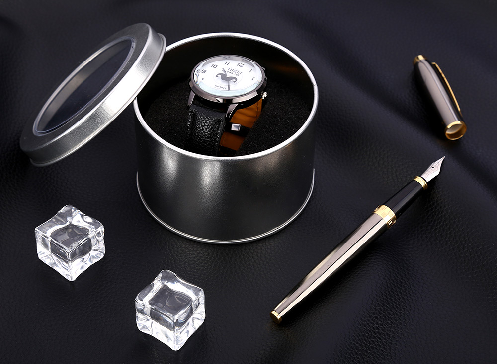60 × 90mm Tinplate Watch Box with Transparent Lid