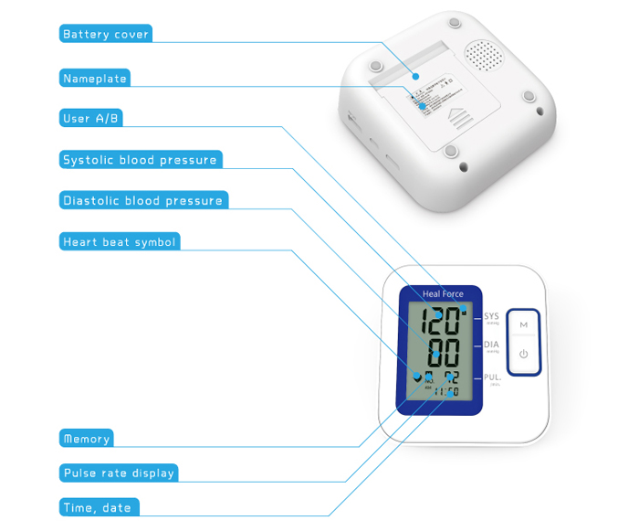 Heal Force B01 Upper Arm Type Blood Pressure Measuring Instrument