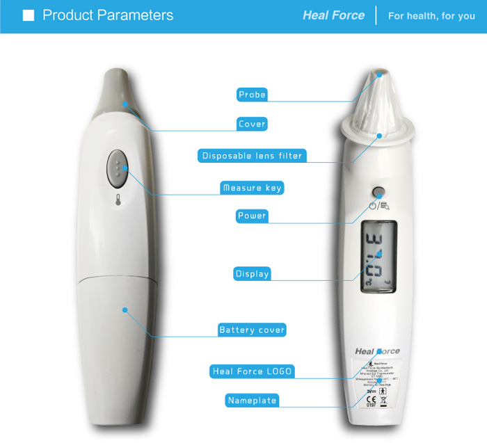 Heal Force ET-100D Electronic Infrared Ray Ear Thermometer for Home Adult Baby