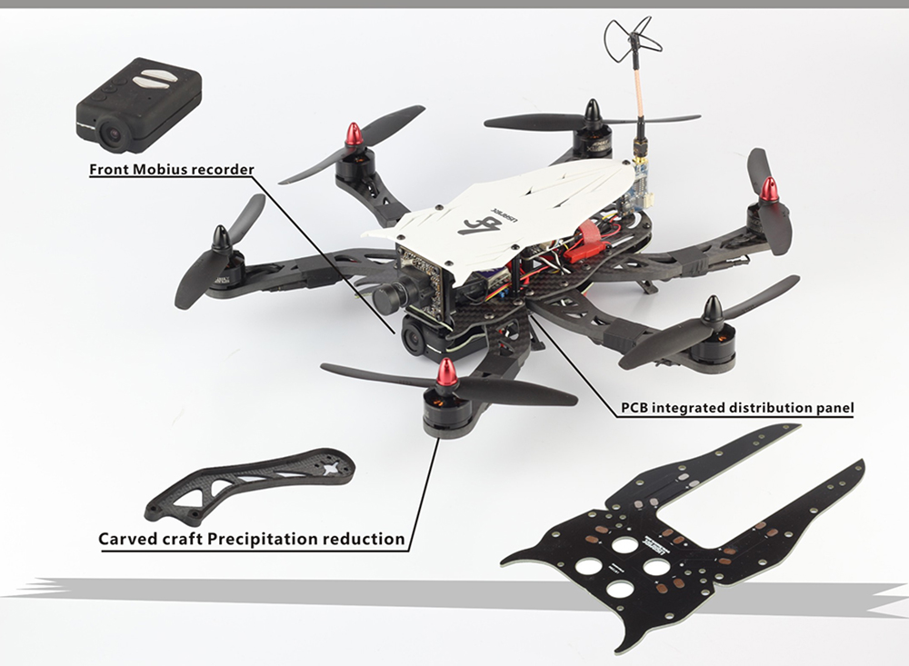 LISAMRC Beetle LS - 300 PCB Carbon Fiber Hexacopter Multicopter Frame Kit Accessory for Multicopter