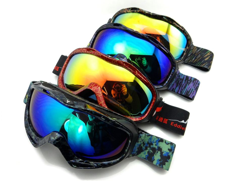 EddieFox HE - 516 Electroplating Anti-fog UV Protection Sport Sunglasses Skiing Goggles