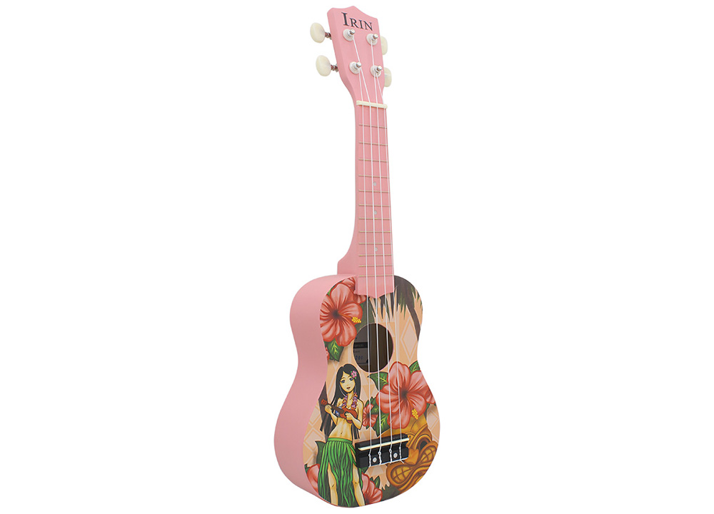 IRIN 21 inch 4 String Basswood Ukulele Hawaii Girl Pattern Design Musical Instrument