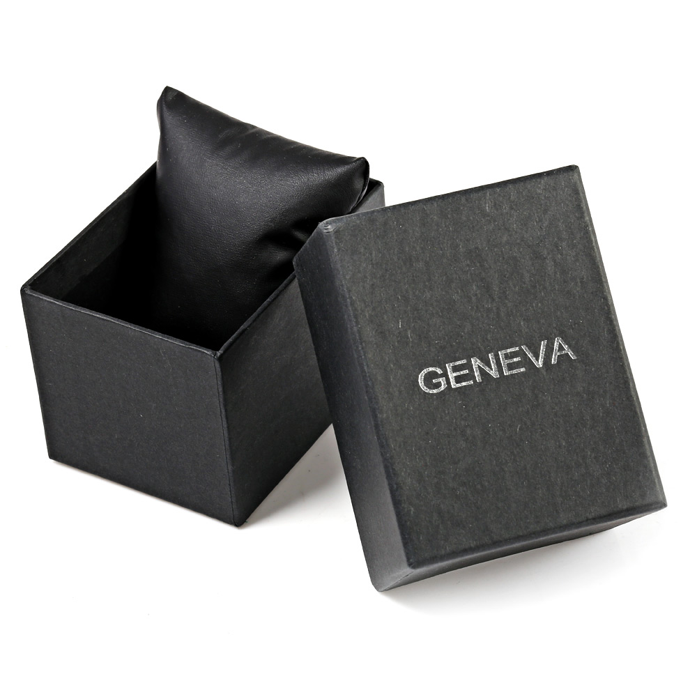 Geneva A422 Arabic Number Double Scale Male Quartz Watch Genuine Leather Band