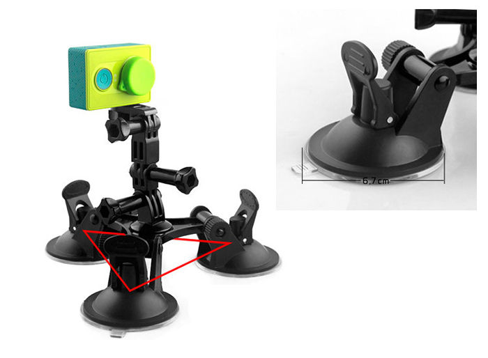 CP-GP404 Strong Suction Cup Tripod Bracket Holder Universal Action Camera Accessory