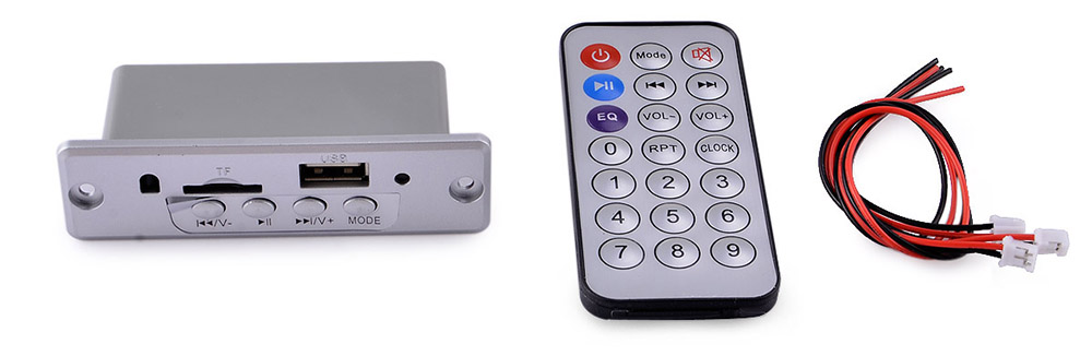 914 5V Bluetooth V2.1 Car MP3 Audio Decoder Board Player TF Card USB External Input with Remote Controller