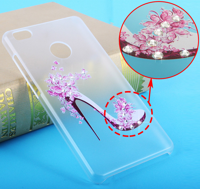 Diamond Style Transparent PC Hard Case for Xiaomi 4S Ultra Thin Phone Protector with Pattern Design