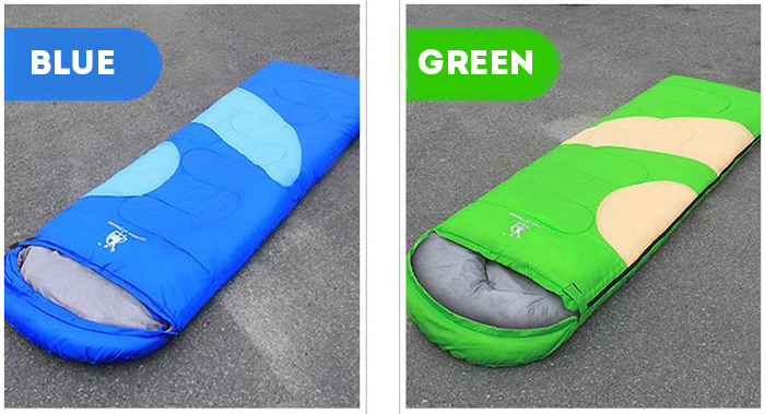GAZELLE OUTDOORS Envelope Style Cotton Sleeping Bag for Outdoor Camping