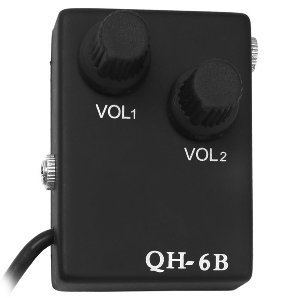 QH - 6B Magnetic 12-hole Sound Acoustic Guitar Pickup Transducer Kit with Tie Clip Microphone Audio Cable